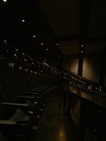 An IMAX-like seating arrangement.