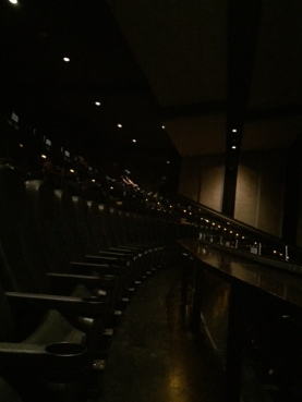 An IMAX-like seating arrangement.