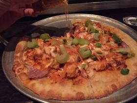 My buffalo chicken pizza.