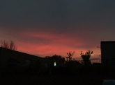 The setting sun over Oklahoma.