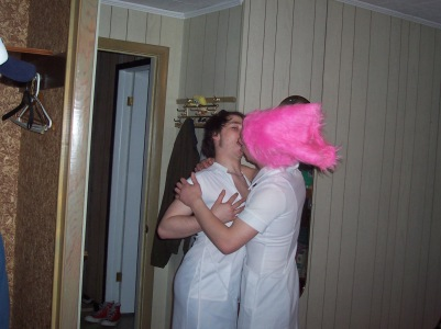 What's with the fake kissing?